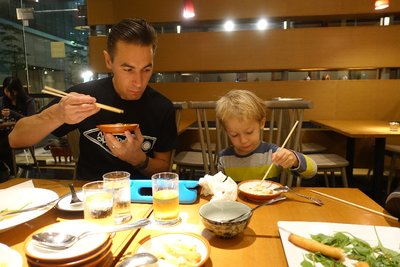 OB Loving the Japanese food and learning to use chopstick(s)