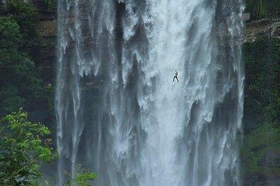 Zip lining through the Laos jungle