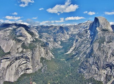 View from Glacier Point looking out to Half Dome, Yosemite Valley