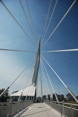 The New Wire Bridge in Winnipeg