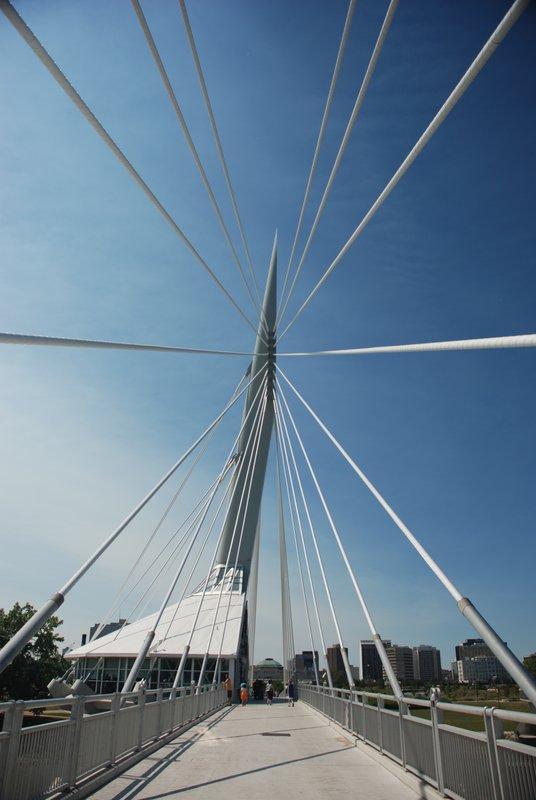 The New Wire Bridge in Winnipeg