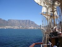 Arriving by Boat into Cape Town HArbour
