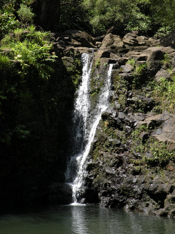 Road to Hana on Maui, Double Waterfalls, James Brennan Molokai Hawaii