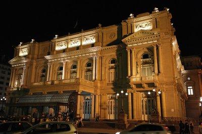 El Teatro Colon, the amazing theatre where we saw Swan Lake