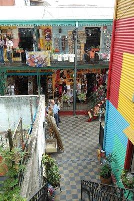 The colorful streets of La Boca