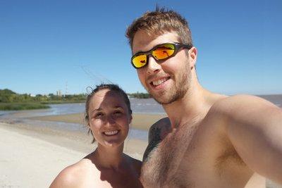 On the beach in Uruguay