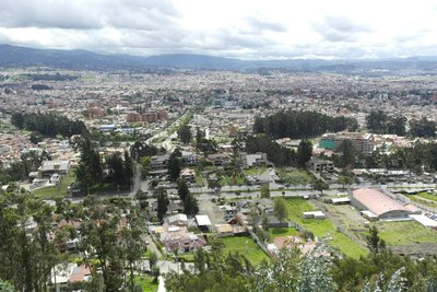View of Cuenca from the top of over 500 steps.