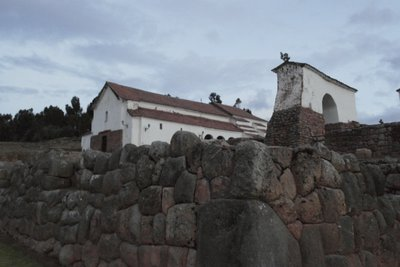 The Spanish built this church on top of a Chinchero building