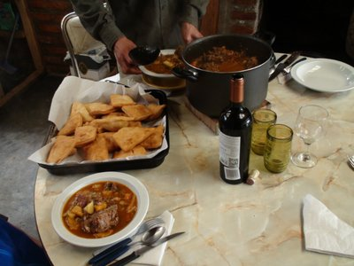Best meal (giso) on the ranch, Thomas still talks about the tortas fritas (deep-fried bread)