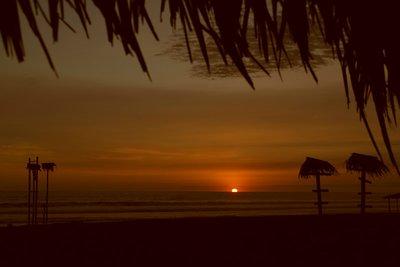 Beautiful sunset outside the hostel