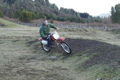 Thomas riding the track