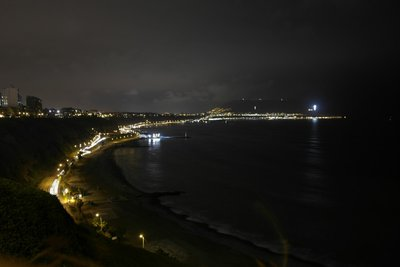 The coast of Lima