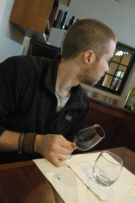 Tasting some amazing wines