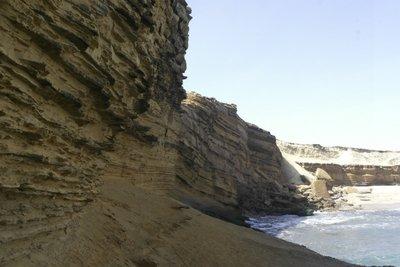 Thomas and I climbed along this ridge