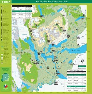 A Torres del Paine National Park map