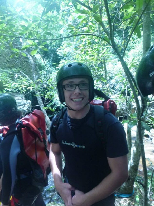 Me on Jan 2014 canyoning trip.
