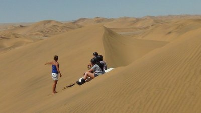Beginners: don't go straight down, aim for the side of dune - roger that!