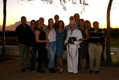 Family pic outside DeGrendel winery, view not too shabby