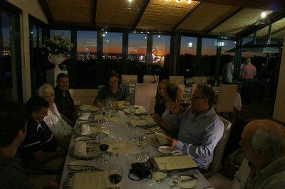 Dinner at DeGrendel winery for Bev's birthday