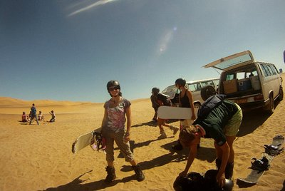Gearing up for some sandboarding