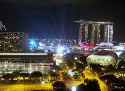 Singapore Night Time View