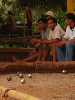 french petanque in Luang Prabang