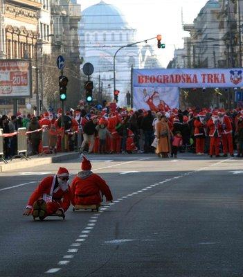 course de père Noel