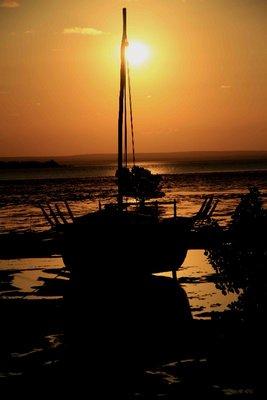 notre bateau échoué Archipel Quirimbas