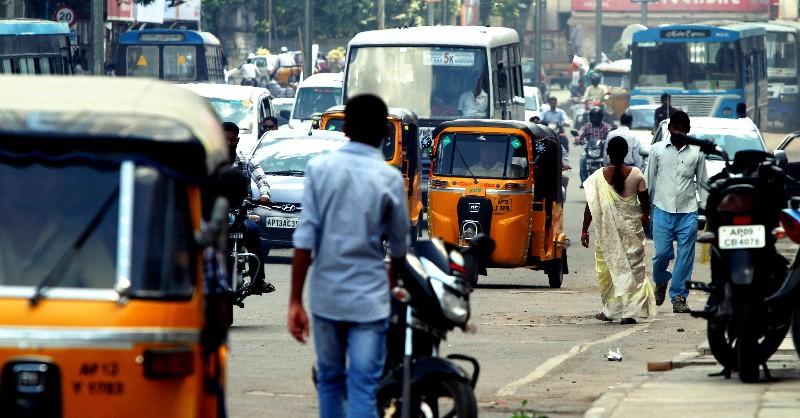 Une rue d'Hyderabad/Hyderabad street