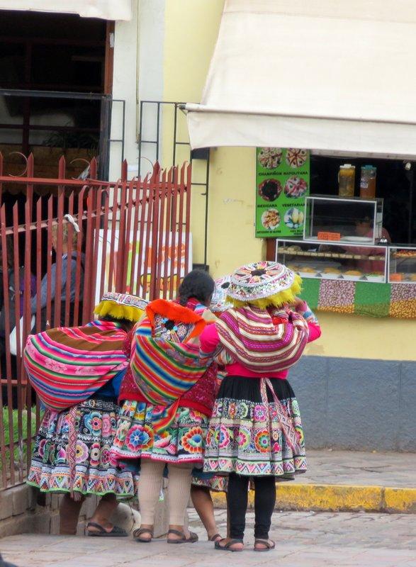 Ethnic ladies at Cusco