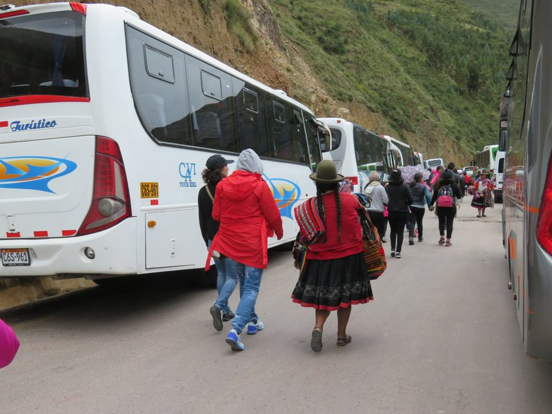 Buses @ Pisac archaeological complex