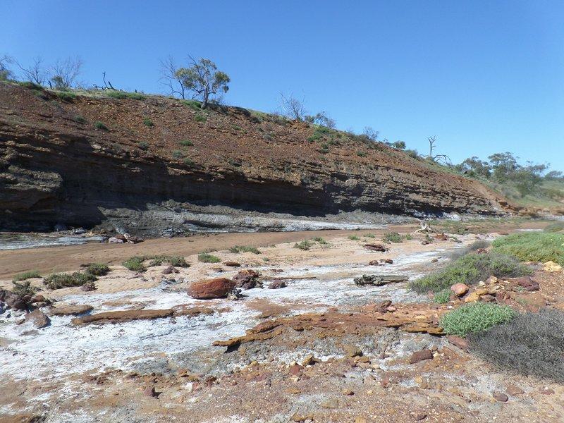 Cliffs with a coalseam