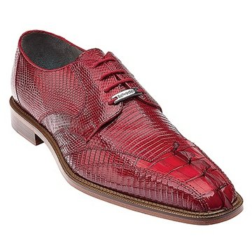 Red Genuine Crocodile & Lizard Belvedere Exotics