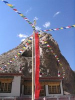 mountainside gompa