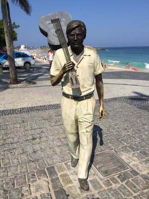 Statue of Tom Jobin, singer/co-writer of 'The Girl From Ipanema'