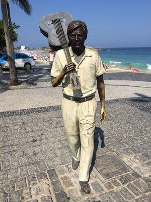 Statue of Tom Jobin, singer/co-writer of 'The Girl From Ipanema'