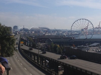 View over the Seattle Waterfront - and the Alaskan Way highway