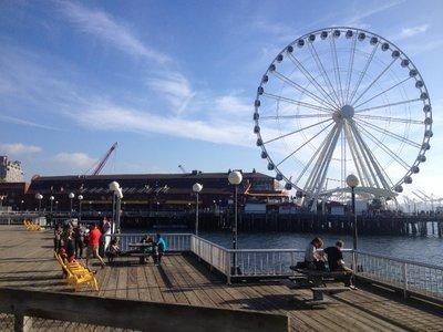 Ferris wheel across Elliott Bay, Seattle