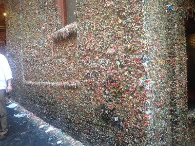 Part of the Gum Wall again, covered in chuddy