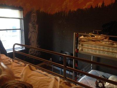 My 4-bed dorm in a hostel in Belltown, Seattle