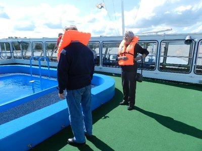 Sicherheitsübung an Bord der MS Wolga