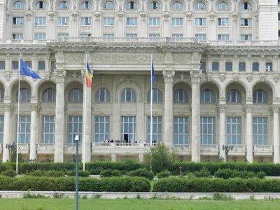 Balkon des Parlamentspalastes