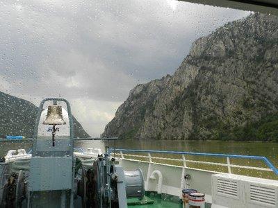 Cazane Schlucht, engste Stelle der Donau
