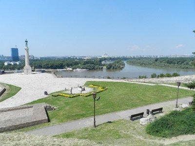 Mündung der Save in die Donau