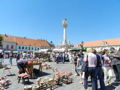 Markt am Hauptplatz von Osijek