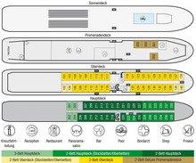 Deckplan MS Wolga