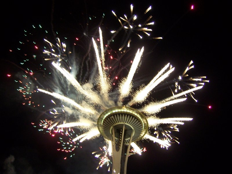 firework space needle
