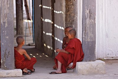 Myanmar young monks