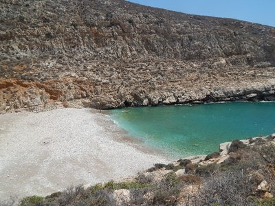 Hike down to Livadaki Beach