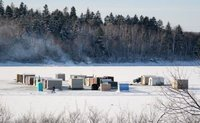 Ice fisshing community - St John New Brunswick